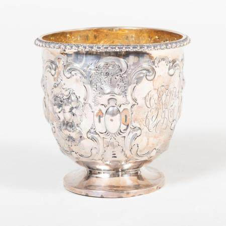 George III Silver Repoussé Bowl