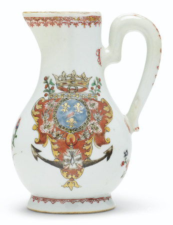 A FRENCH ROYAL ARMORIAL JUG