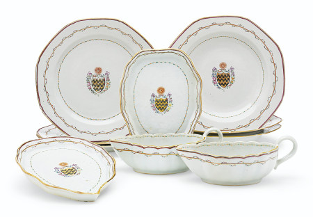 A SET OF ARMORIAL DISHES