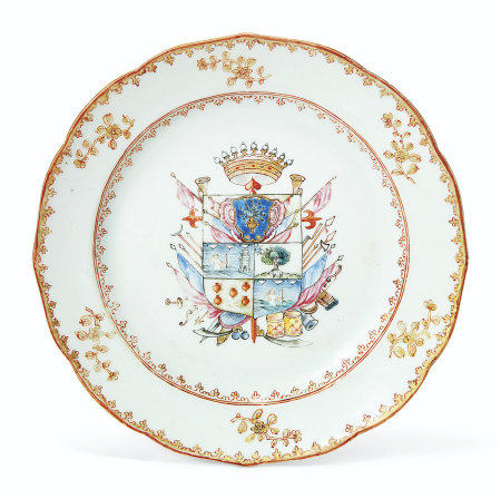 A SPANISH MARKET ARMORIAL PLATE