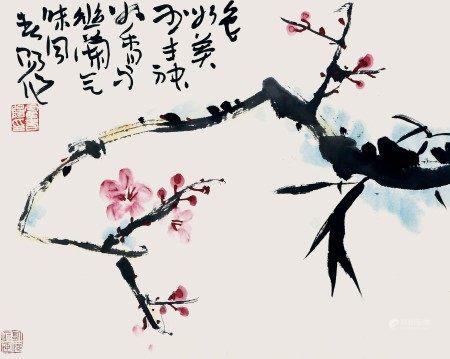 霍春阳(b.1946) 双清