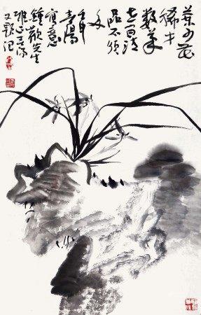霍春阳(b.1946) 兰竹