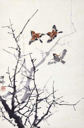 孙其峰(b.1920) 麻雀