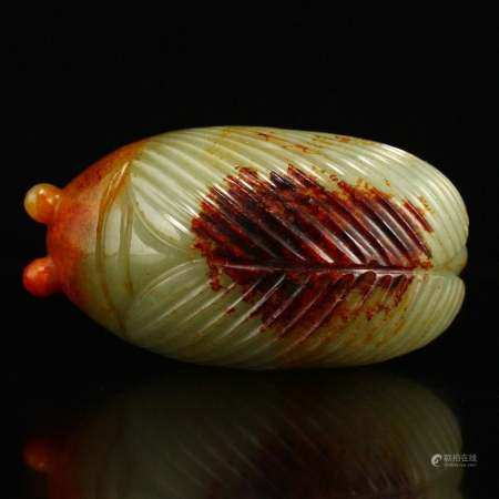 Vintage Chinese Hetian Jade Cicada Pendant