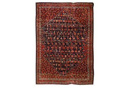 A VERY FINE ANTIQUE SENNEH RUG, WEST PERSIA