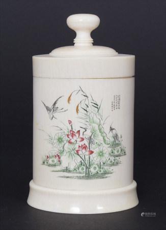 Teedose / A tea box, China, Republik-Periode, (1900-20)