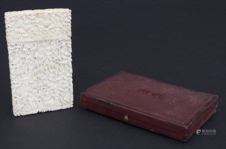 Visitenkartenetui / A business card case, China, Qing-Dynastie, 19. Jh.