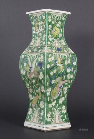 Ziervase, China, späte Qing-Dynastie, 19./20. Jh.