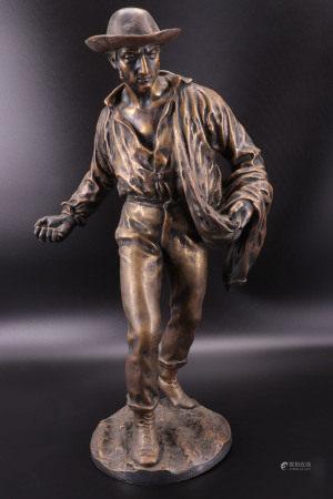 播种者 - 署名青铜像