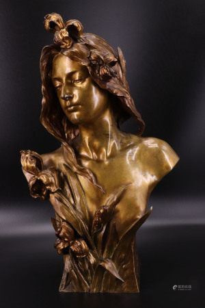 法国 - 少女半身铜像 - GUSTAVO OBIOLS DELGADO