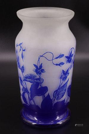 比利时 - Val Saint Lambert - 酸蚀面花瓶