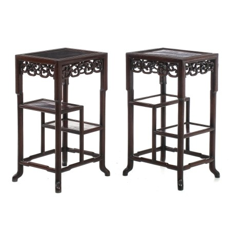 Pair of 'etagere' tables, Minguo