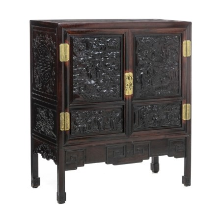 Chinese carved cabinet, Minguo