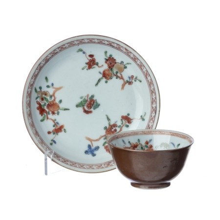 Chinese Porcelain Chocolate Family Teacup