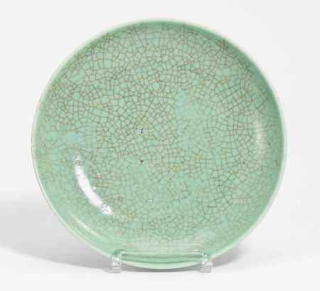 CELADON COLORED DISH.