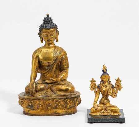 BUDDHA SHAKYAMUNI AND WHITE TARA.