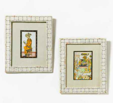 FOUR MINIATURE PAINTINGS.