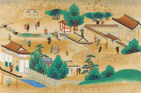 SIX FAMOUS SHRINES AND LANDSCAPES.