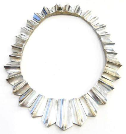 INCREDIBLE LARGE HEAVY TAXCO STERLING NECKLACE