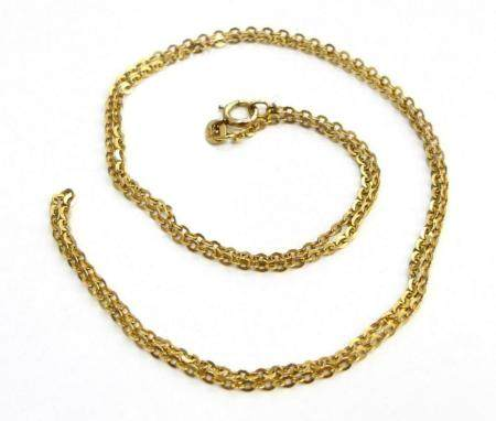 18 KT YELLOW GOLD LONG NECKLACE