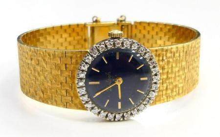 18 KT Y GOLD BALOGH LADIES WATCH & BAND DIAMONDS
