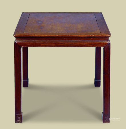 红木嵌瘿木面八僊桌