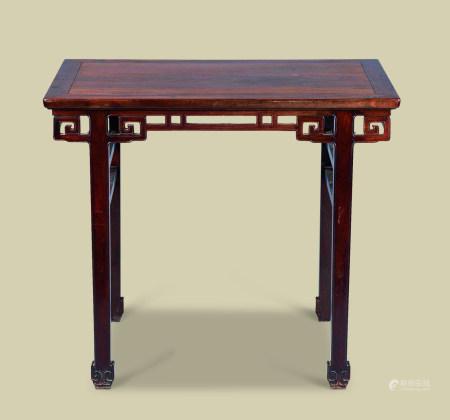 红木回纹长方桌
