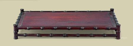 清代(1644-1911) 红木竹节纹长方台