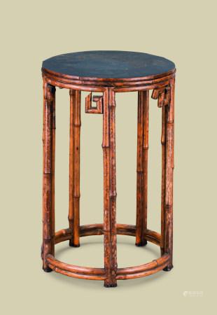 清代(1644-1911) 黑漆面五足花台