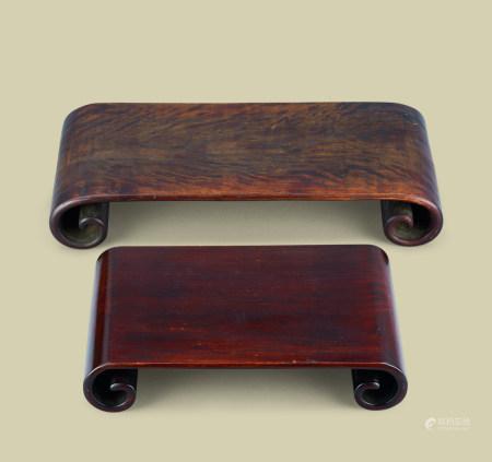 清代(1644-1911) 红木下卷 (二件一组)