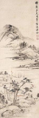 溥佺(1913~1991)  山水 镜心 设色纸本