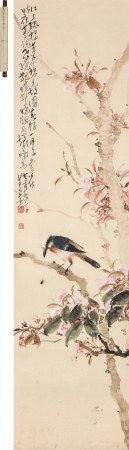 赵少昂(1905~1998)  花鸟 立轴 设色纸本