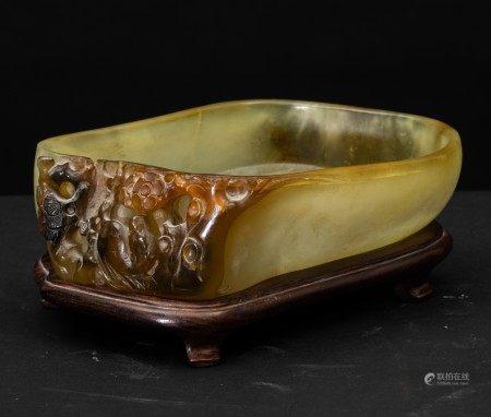 A jade bowl, China, Qing Dynasty, Qianlong period