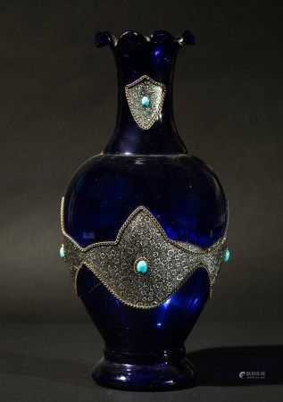 A glass vase, India, late 1800s