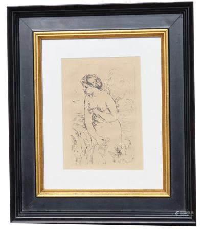 "Pierre Renoir (1841 - 1919) ""The Bather"" Etching"