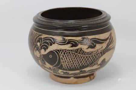 Chinese Song Dynasty Cizhou Ware Fish Bowl