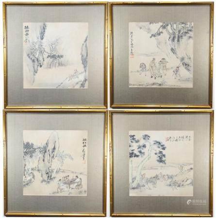 (4) Liupeng Su (c 1790 - 1862) Watercolor/Ink