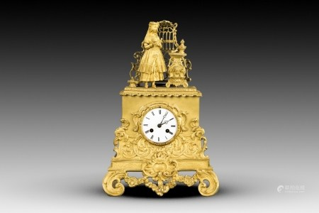 A FRENCH FIGURAL MANTEL CLOCK, 19TH CENTURY