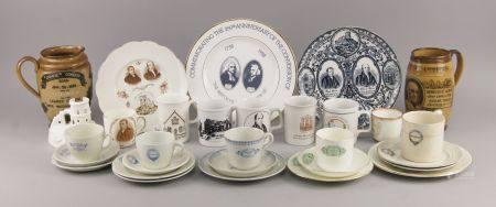 Two Doulton salt glazed stoneware commemorative jugs, 19th century, for William Gladstone and