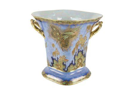A Carlton ware gilt and lustre ware vase, early 20th century, of shaped trumpet form with twin