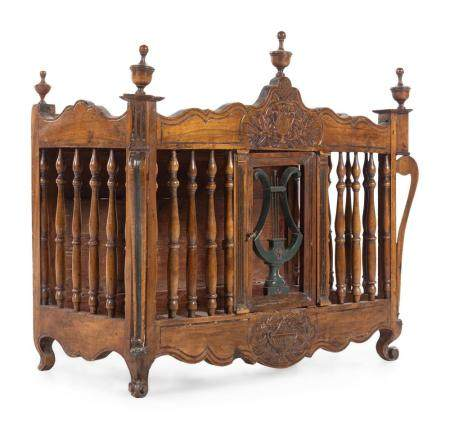 A French Provincial Carved Oak Panetiere