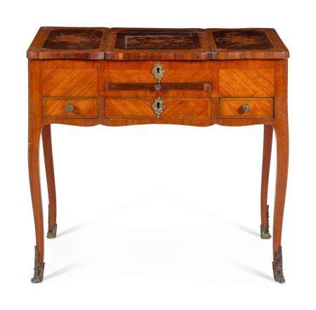 A Louis XV Style Marquetry Poudreuse