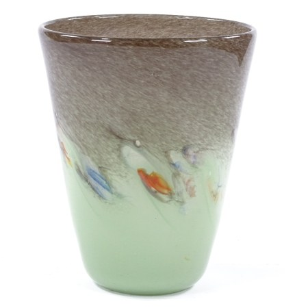 A Monart coloured Studio glass vase, height 23cm, rim diameter 19cm