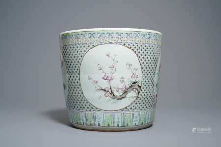 A Chinese famille rose jardinière, 19th C.