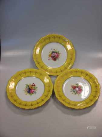 A set of 8 Royal Worcester plates, decorated with central spray of flowers