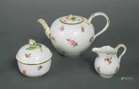 A Meissen bachelor's tea service,