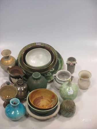 A quantity of Art pottery