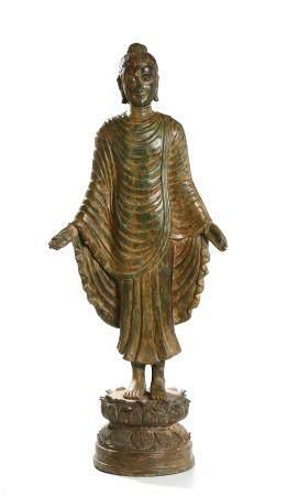 Chinese Bronze Buddha Figure of Udayana