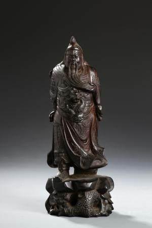 Chinese Zitan Statue of Guangong