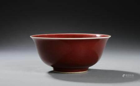 Chinese Oxblood Glazed Bowl